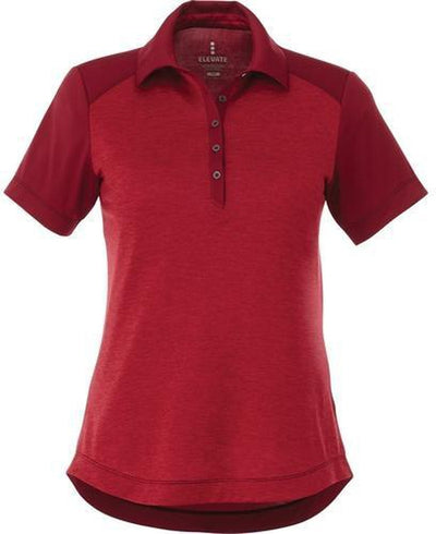 Elevate-Ladies SAGANO Short Sleeve Polo-S-Vintage Red Heather-Thread Logic