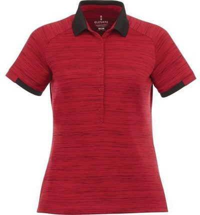 Elevate-Ladies EMORY Short Sleeve Polo-S-Vintage Red Heather-Thread Logic