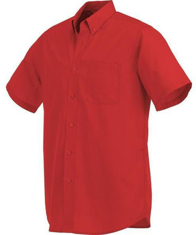 Elevate-COLTER Oxford Short Sleeve Dress Shirt-S-Team Red-Thread Logic