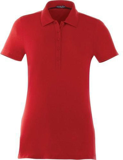 Elevate-Ladies ACADIA Short Sleeve Polo-S-Team Red-Thread Logic