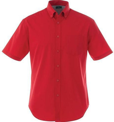 Elevate-STIRLING Short Sleeve Dress Shirt-S-Team Red-Thread Logic