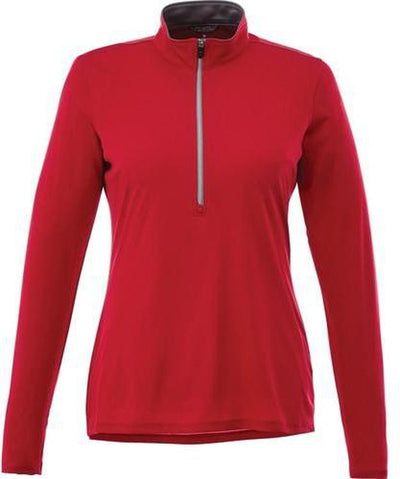 Elevate-Ladies VEGA Tech Half Zip-XS-Team Red-Thread Logic