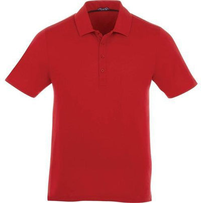 Elevate-ACADIA Short Sleeve Polo-S-Team Red-Thread Logic