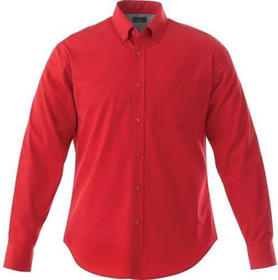Elevate-WILSHIRE Long Sleeve Dress Shirt-S-Team Red-Thread Logic