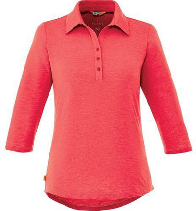 Elevate-Ladies TIPTON Short Sleeve Polo-S-Team Red Heather-Thread Logic