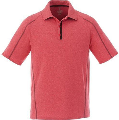 Elevate-MACTA Short Sleeve Polo-S-Team Red Heather-Thread Logic