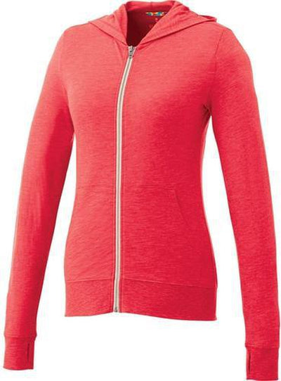 Elevate-Ladies GARNER Full Zip Hoody-XS-Team Red Heather-Thread Logic