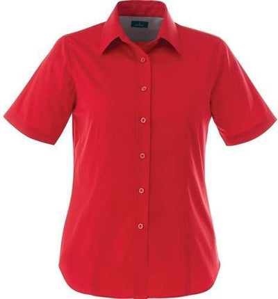 Elevate-Ladies STIRLING Short Sleeve Dress Shirt-XS-Team Red-Thread Logic