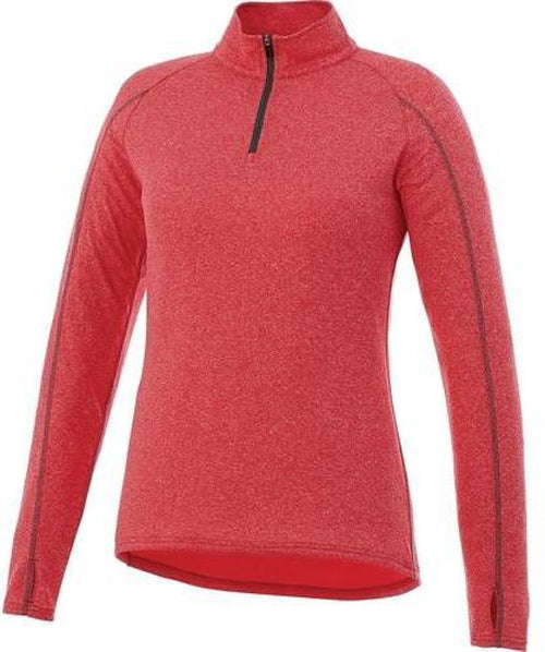 Elevate-Ladies TAZA Quarter Zip-XS-Team Red Heather-Thread Logic