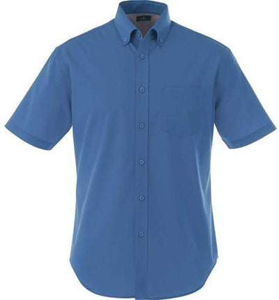 Elevate-STIRLING Short Sleeve Dress Shirt-S-Blue-Thread Logic