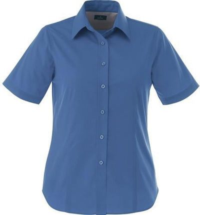 Elevate-Ladies STIRLING Short Sleeve Dress Shirt-XS-Blue-Thread Logic