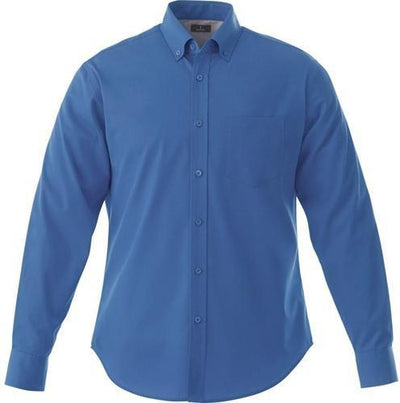 Elevate-WILSHIRE Long Sleeve Dress Shirt-S-Blue-Thread Logic