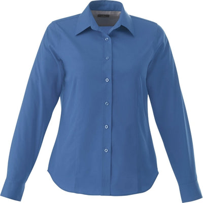 Elevate-Ladies WILSHIRE Long Sleeve Dress Shirt-XS-Blue-Thread Logic