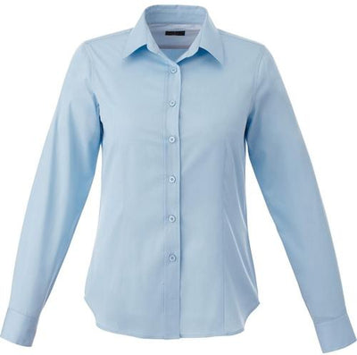 Elevate-Ladies WILSHIRE Long Sleeve Dress Shirt-XS-Frost Blue-Thread Logic