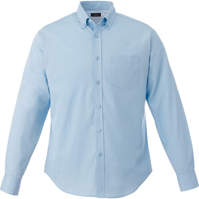 Elevate-WILSHIRE Long Sleeve Dress Shirt-S-Frost Blue-Thread Logic
