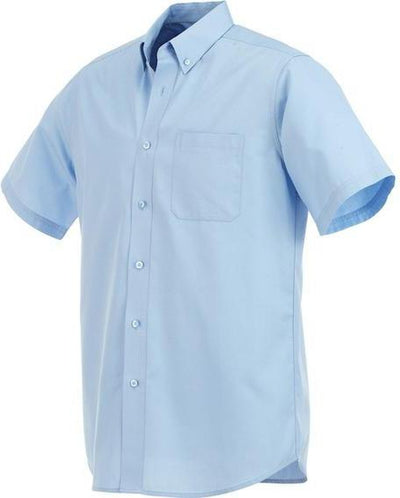 Elevate-COLTER Oxford Short Sleeve Dress Shirt-S-Sky-Thread Logic