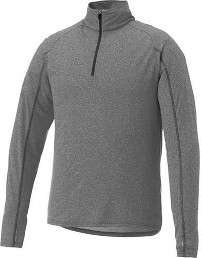 Elevate-TAZA Quarter Zip-S-Heather Dark Charcoal-Thread Logic
