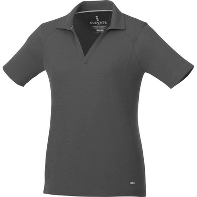 Elevate-Ladies JEPSON Short Sleeve Polo-XS-Anthracite-Thread Logic