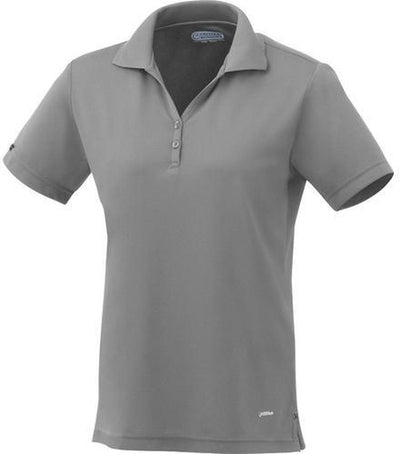 Elevate-Ladies MORENO Short Sleeve Polo-XS-Steel Grey-Thread Logic