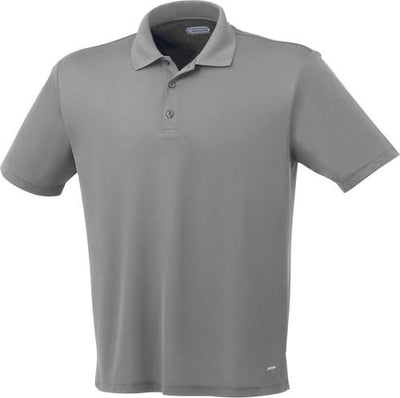 Elevate-MORENO Short Sleeve Polo-S-Steel Grey-Thread Logic