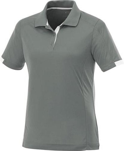 Elevate-Ladies KISO Short Sleeve Polo-S-Steel Grey/White-Thread Logic
