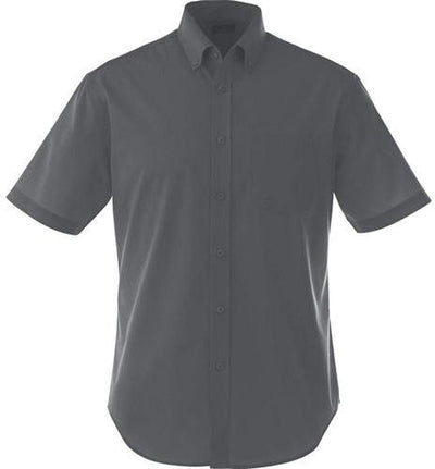 Elevate-STIRLING Short Sleeve Dress Shirt-S-Grey Storm-Thread Logic