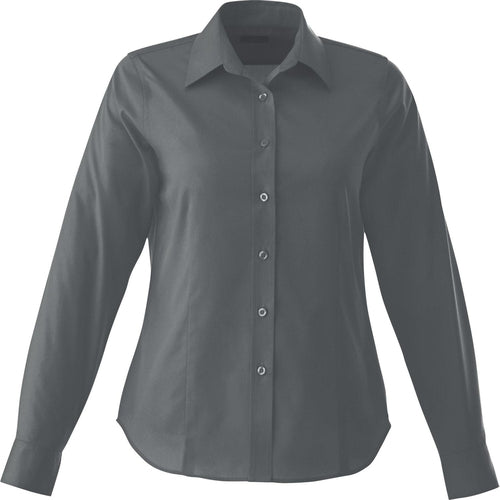 Elevate-Ladies WILSHIRE Long Sleeve Dress Shirt-XS-Grey Storm-Thread Logic