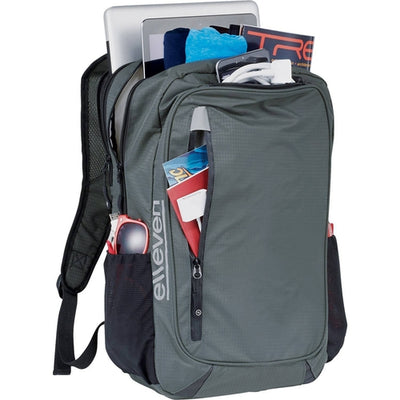 "Elleven-elleven Lunar Lightweight 15"" Computer Backpack-Grey-Thread Logic"