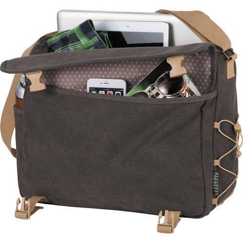 "Field&Co-Field & Co. Venture 15"" Computer Messenger-Charcoal-Thread Logic"