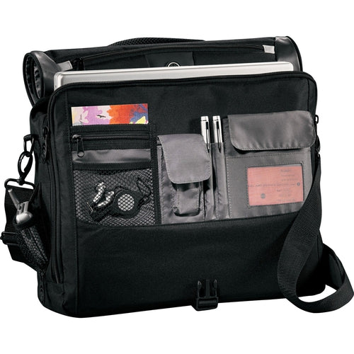 "Elevate-Slope 15"" Computer Messenger Bag-Black-Thread Logic"