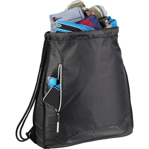 Elevate-Vault RFID Drawstring Sportspack-Black-Thread Logic