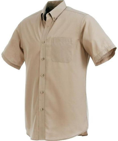 Elevate-COLTER Oxford Short Sleeve Dress Shirt-S-Tan-Thread Logic