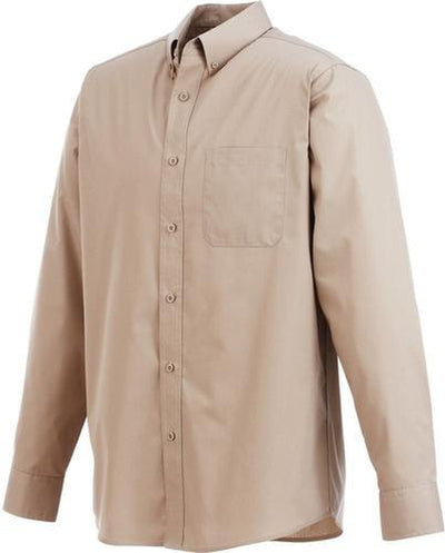 Elevate-PRESTON Long Sleeve Dress Shirt-S-Tan-Thread Logic
