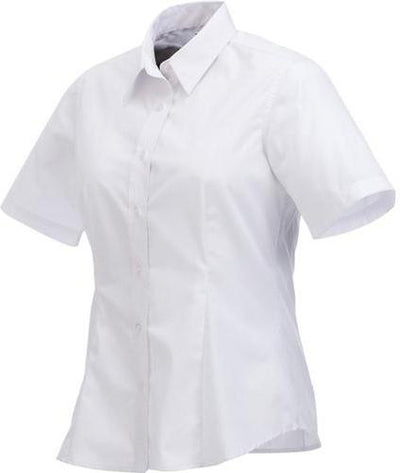 Elevate-Ladies COLTER Oxford Short Sleeve Dress Shirt-XS-White-Thread Logic