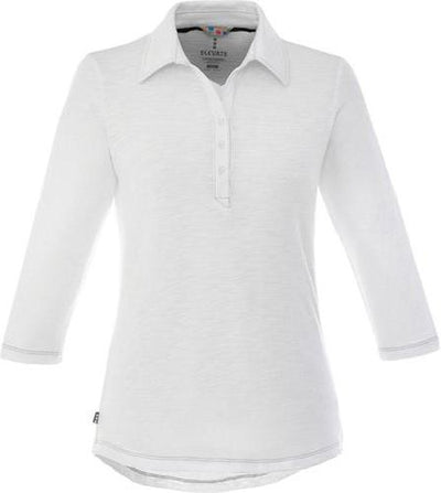 Elevate-Ladies TIPTON Short Sleeve Polo-S-White-Thread Logic