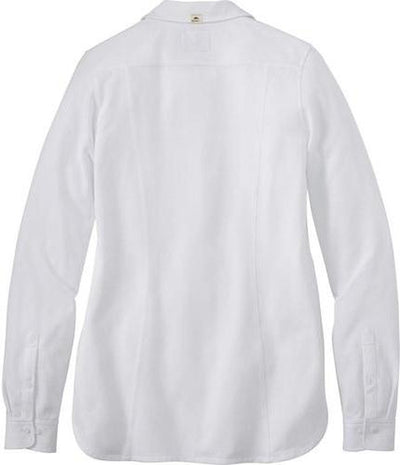 Ladies Roots73 Baywood Long Sleeve-S-White-Thread Logic no-logo