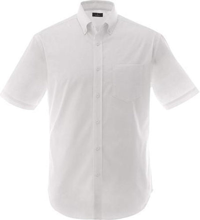 Elevate-STIRLING Short Sleeve Dress Shirt-S-White-Thread Logic