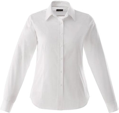 Elevate-Ladies WILSHIRE Long Sleeve Dress Shirt-XS-White-Thread Logic