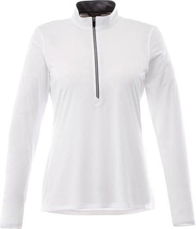 Elevate-Ladies VEGA Tech Half Zip-XS-White-Thread Logic