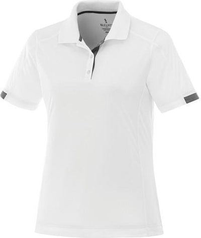 Elevate-Ladies KISO Short Sleeve Polo-S-White/Steel Grey-Thread Logic