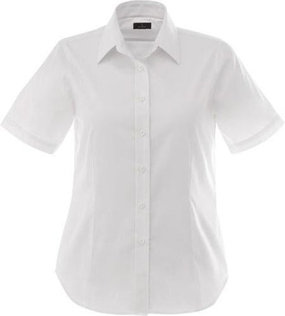 Elevate-Ladies STIRLING Short Sleeve Dress Shirt-XS-White-Thread Logic