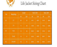 dog life jacket size chart