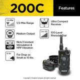 features of the DOGTRA 200C™ 202C™ Dog Remote Training Collar