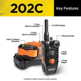 how the collar and remote works for the two dog version of the Dogtra 200c 202c