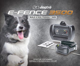 dog wearing the dogtra electric fence system
