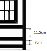 Dimensions of the black door panel