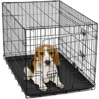 "30"" Double Door Dog Crate with Removable Tray 76cmx47cmx53cm"
