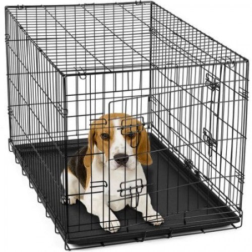 dog crate with removable tray