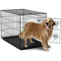 "42"" Double Door Dog Crate with Removable Tray 106x71x76cm"