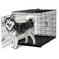 "48"" Double Door Dog Crate with Removable Tray 122X76X81CM"